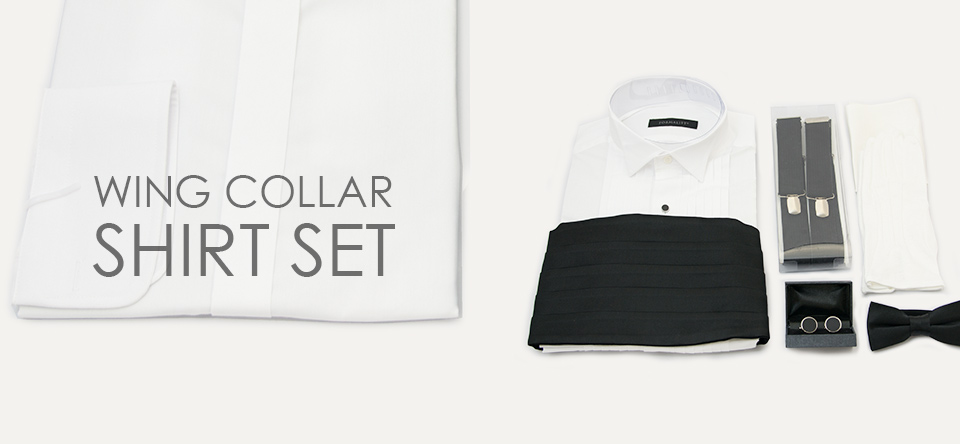 WING COLLAR SHIRT SET